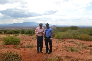 Our auditor, Mr. Sunil Kathuria with our country coordinator Moses Maina in Maungu