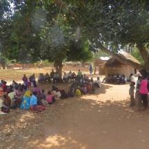 Nansohera community attending WASH